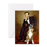 Lincoln & his Boxer Greeting Card