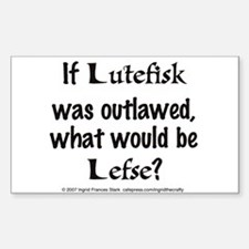 Lutefisk Rectangle Decal