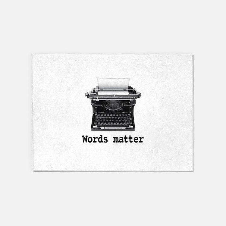 Words matter 5'x7'Area Rug