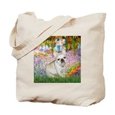 Monet's Garden & French Bulld Tote Bag