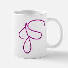 Pink Initials JS Mugs
