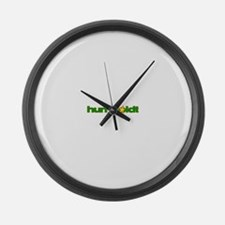 humboldt grunge star.png Large Wall Clock