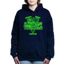 emerald triangle.png Women's Hooded Sweatshirt