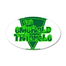 emerald triangle.png 35x21 Oval Wall Decal