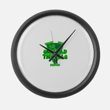 emerald triangle.png Large Wall Clock