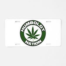 humboldt pot nation.png Aluminum License Plate