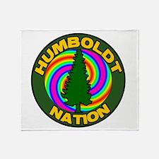 humboldt psychadelic nation.png Throw Blanket
