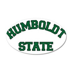 HUMBOLDT STATE.png 35x21 Oval Wall Decal