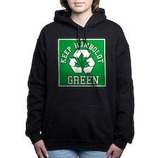 keep humboldt green.png Women's Hooded Sweatshirt