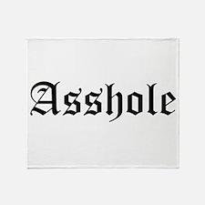 Asshole Throw Blanket