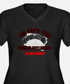 the hairy taco.png Women's Plus Size V-Neck Dark T