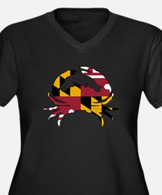 Maryland Sta Women's Plus Size V-Neck Dark T-Shirt