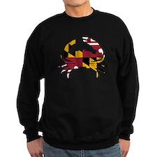 Maryland State Flag Crab Sweatshirt