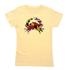 Maryland State Flag Crab Girl's Tee