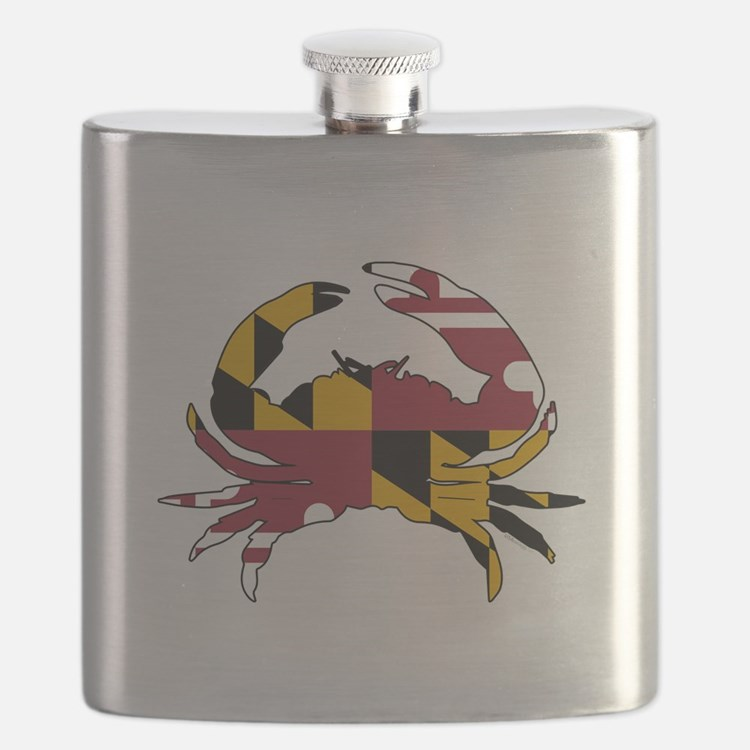 Maryland State Flag Crab Flask