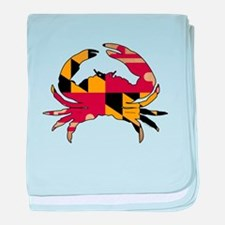 Maryland State Flag Crab baby blanket