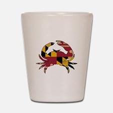 Maryland State Flag Crab Shot Glass