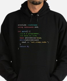 Eat, Sleep, and Code Repeatedly Hoodie (dark)