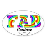 Fab Couture (Brand) Oval Sticker