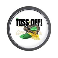 Toss Off! Wall Clock