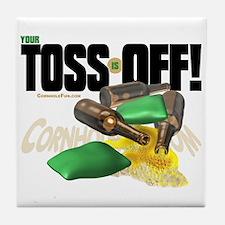 Toss Off! Tile Coaster