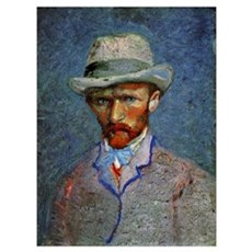 Van Gogh - Self-Portrait with Gray Hat Poster