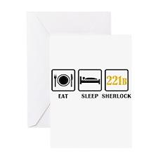 Eat Sleep Sherlock Greeting Cards