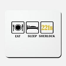 Eat Sleep Sherlock Mousepad