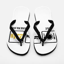 Eat Sleep Sherlock Flip Flops