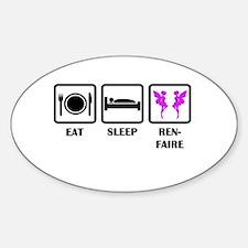 Eat Sleep Ren-Faire Decal