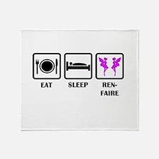 Eat Sleep Ren-Faire Throw Blanket