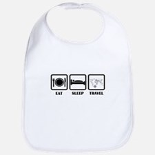 Eat Sleep Travel Bib