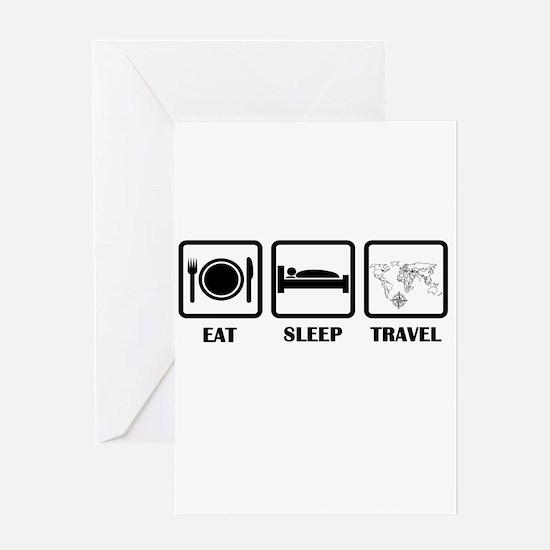 Eat Sleep Travel Greeting Cards