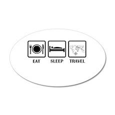 Eat Sleep Travel Wall Decal
