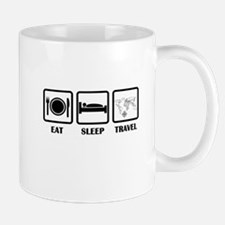 Eat Sleep Travel Mugs