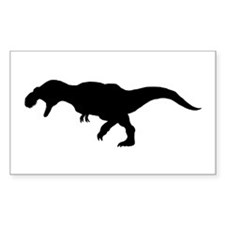 T.rex Silhouette Rectangle Decal