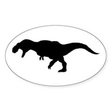 T.rex Silhouette Oval Decal