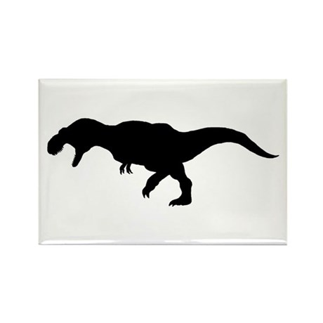 T.rex Silhouette Rectangle Magnet (100 pack)