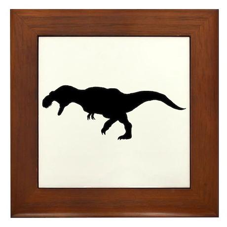 T.rex Silhouette Framed Tile
