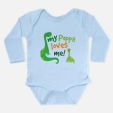 My Poppa Loves Me Long Sleeve Infant Bodysuit