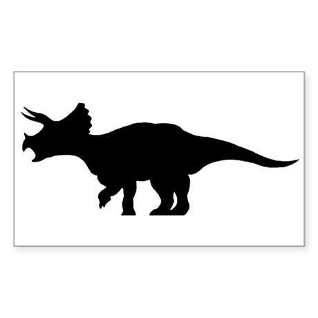 Triceratops Rectangle Sticker