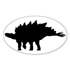 Stegosaurus Oval Decal