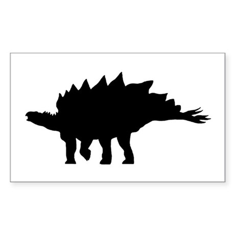 Stegosaurus Rectangle Sticker