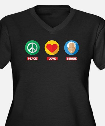 Peace Love Bernie Plus Size T-Shirt
