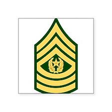 "Cute Sergeant major Square Sticker 3"" x 3"""