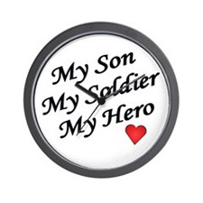My Son My Soldier My Hero Wall Clock