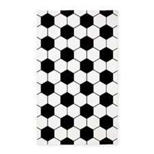 soccer decor black and white Area Rug