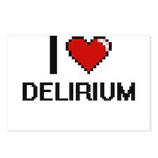I love Delirium Postcards (Package of 8)