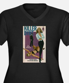 Killer Dyke Women's Plus Size V-Neck Dark T-Shirt