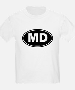 Maryland MD Euro Oval T-Shirt